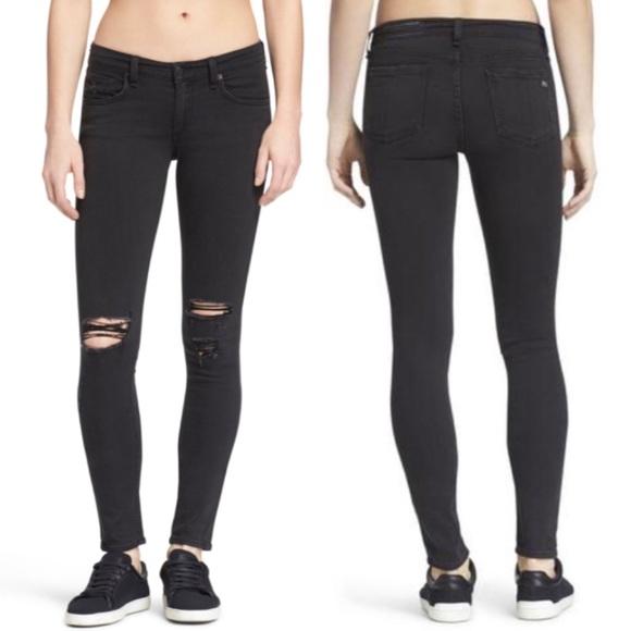 rag & bone Denim - rag & bone mid-rise skinny jeans 23 rock wholes